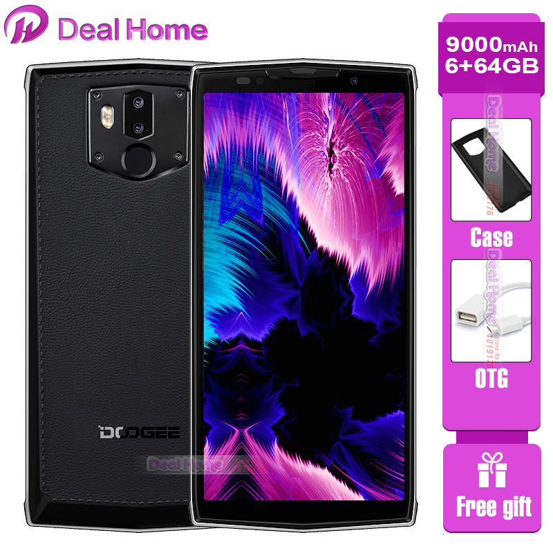 Téléphone portable d'origine DOOGEE BL9000 6 GB 64 GB Helio P23 18:9 5V5A Charge Flash 9000 mAh Charge sans fil 5.99