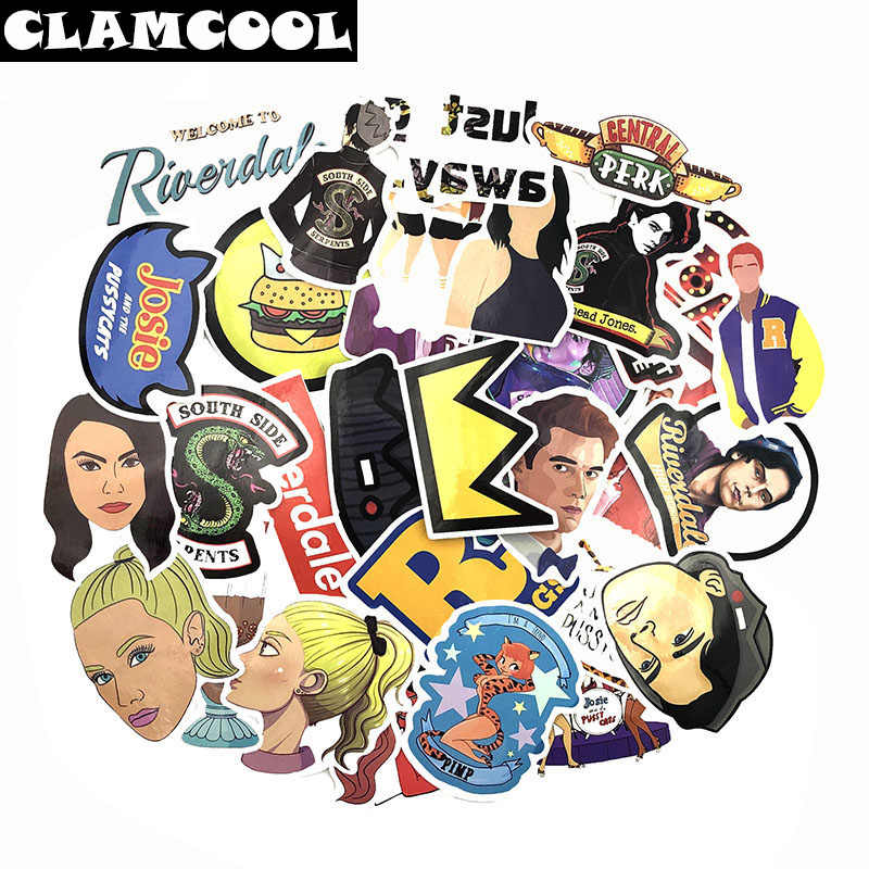 35Pcs Riverdale Stickers for Laptop Skateboard Home Decoration Car Styling Vinyl Decals Doodle Cool DIY Sticker