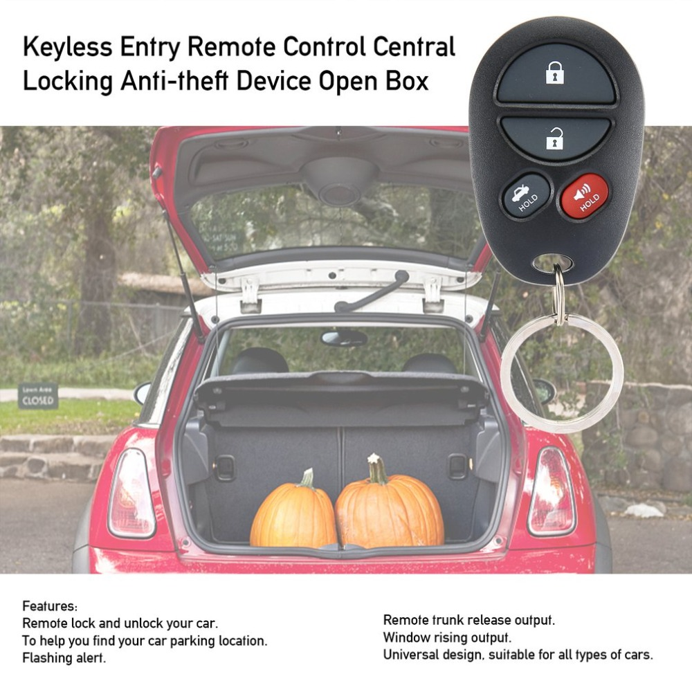 Keyless Entry Remote Control Central Locking Anti-theft Device Open Box Directional Light Window image
