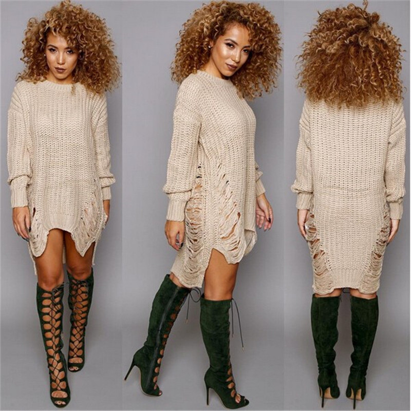 New Arrival Knitted Sweaters Women Pullovers Dress Fashion Long ...