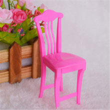 2018 New 1pc Children High Chair Toy Table Chair For Doll Doll's House Accessories Dollhouse Furniture Play House Toys Random(China)