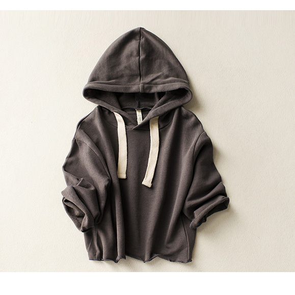 Boys-girls-spring-autumn-hoodies-baby-solid-casual-hooded-shirts-kids-khaki-dark-grey-long-sleeve-clothes-children-outfit-2-8T-3