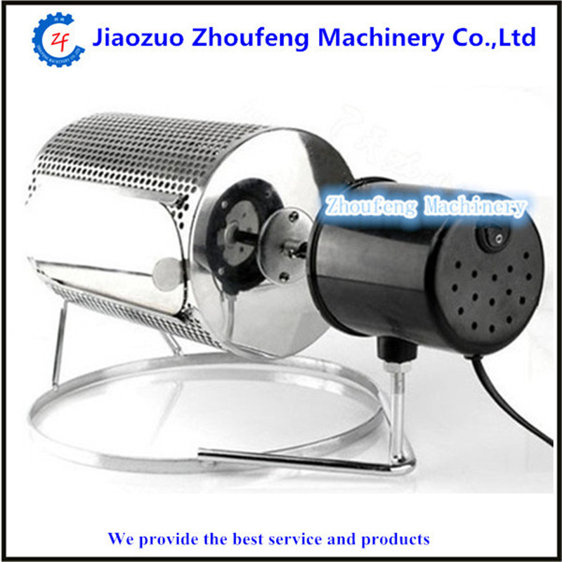 Electric roller coffee roasting machines small size rotate type coffee bean baking machine ZF coffee bean baking machine mini drum type home use peanut roasting machines cashew chestnut small roaster zf