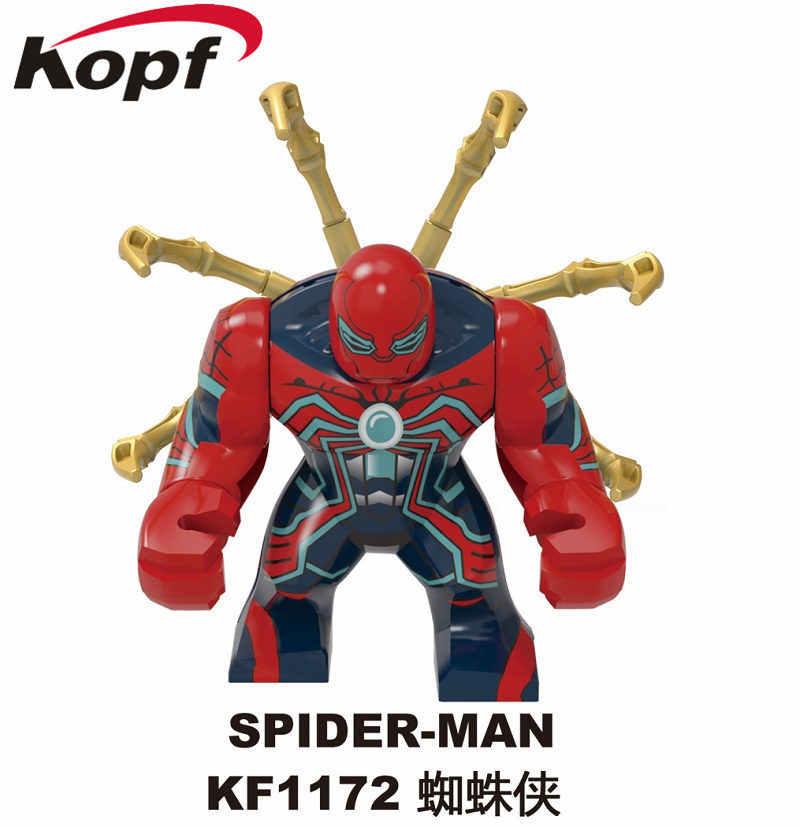 Legoing Marvel Spiderman vengadores Spider-Man 2 lejos de casa Doctor pulpo Deadpool figuras superhéroes Iron Man Juguetes legoings