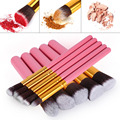 10pcs Brand Cosmetics makeup Brushes Women Practical Powder Brushes Kit Soft Cosmetic Makeup Brushes Toiletry Kit