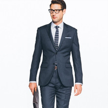 men formal suits for groom tuxedo dark gray suit slim fit custom made suit 2017 high quality for wedding