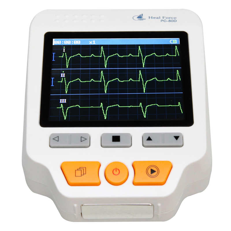 Heal Force PC-80D Advanced Handheld ECG Monitor Portable LCD Electrocardiogram Heart Monitor Monitoring Health Care Machine heal force advanced handheld eg monitor mini portable lcd electrocard free software 80a holter machine medical equipment