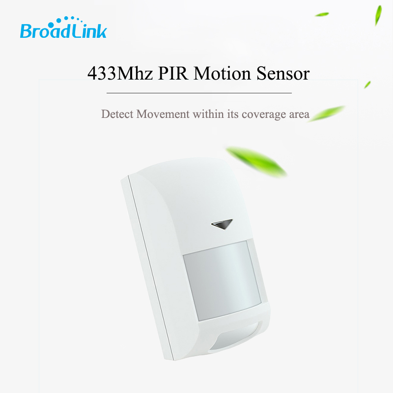 Broadlink 433Mhz Wireless Intelligent Infrared PIR Motion Sensor Anti-theft for Smart Home Security S1C Alarm System intelligent wireless infrared sensor telephone alarm anti theft alarm shop home security alarm system