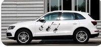 43 * 43 CM PVC guitarra calcomanías etiqueta engomada del coche 3d 3 M pegatinas reflectantes reflectante cinta protector de puerta de coche adesivi por auto Car styling vw golf 7