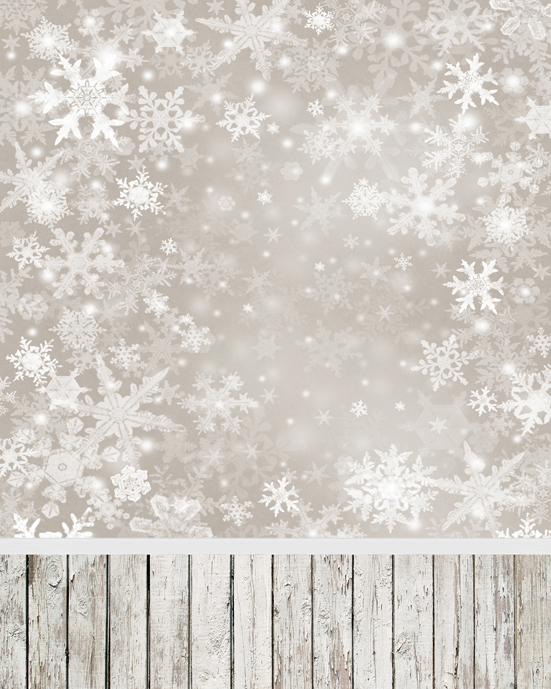 300CM*300CM Christmas Photo Backdrop Snowflake Gray Sky Backgrounds for Baby L885