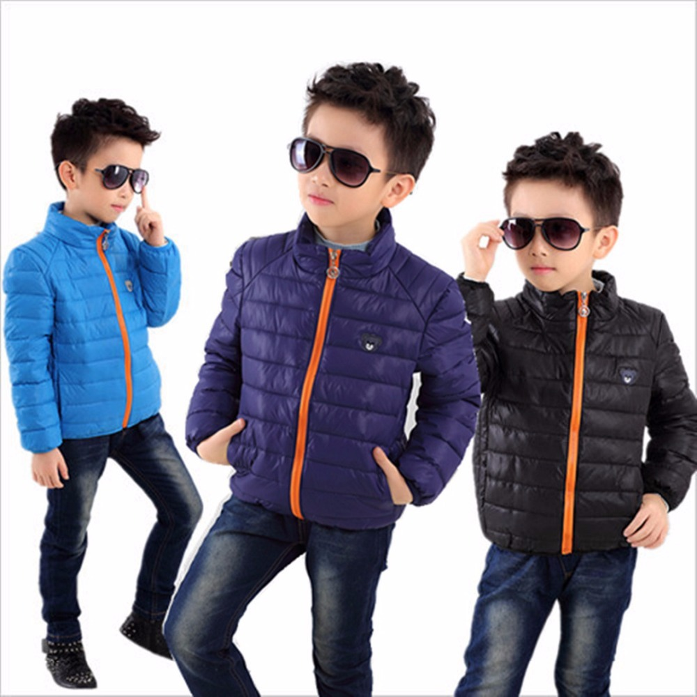 Hot Retail Down thicken kids jacket cool boys clothes Plus velvet ...