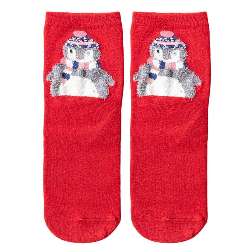 3D Christmas Socks Women Skiing Cycling Cartoon Funny Happy Crazy Cute Amazing Novelty Print Ankle Socks #2s26#F (4)