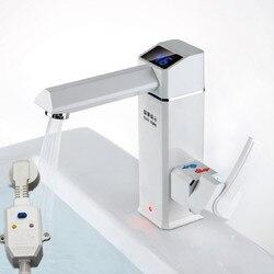 O novo design ml0012 2500 w display led temperatura instantânea tankless torneira do chuveiro da cozinha aquecedor elétrico quente