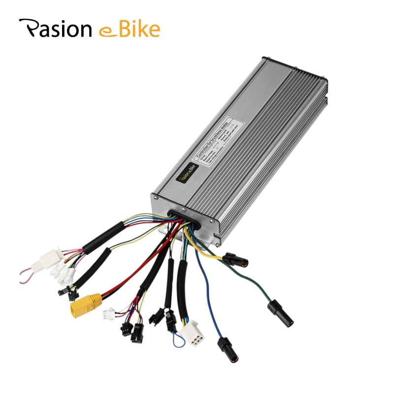Pasion E Bike 48 В 1500 Вт/2000 Вт серебро бесщеточный синусоида 18 MOSFET контроллер 36 В 1200 Вт Электро-мопеды 45A Пульты ДУ
