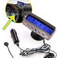 Detector de tensão temperatura Car Auto display Lcd display digital termômetro relógio despertador alarme de Controle