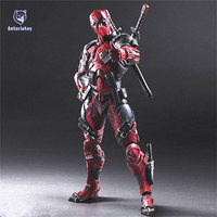 Deadpool Figure Wolverine X Men X MEN Play Arts Kai Deadpool Wade Winston Wilson Play Art KAI PVC Action Figure 26cm Doll Toy