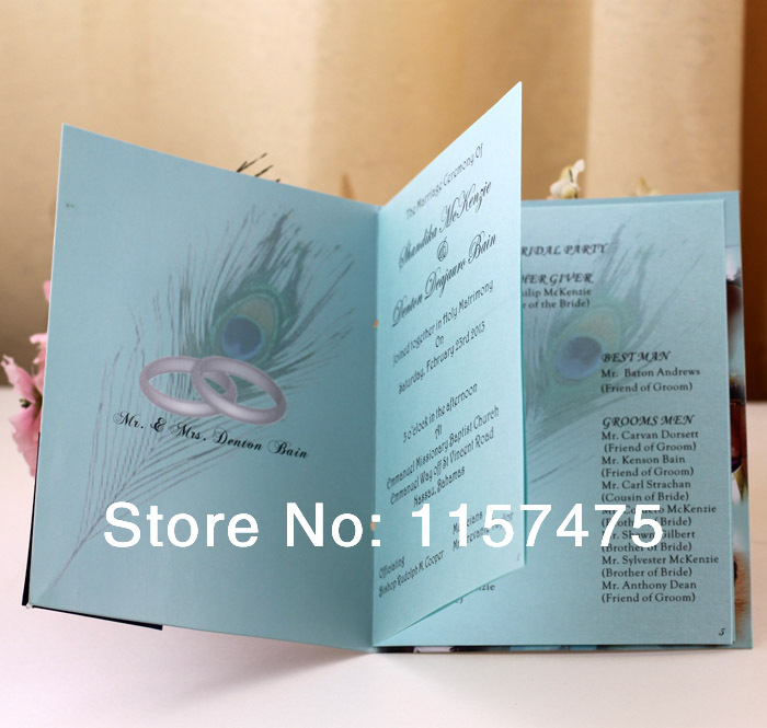 Aliexpress Buy HI9002 Customized Wedding Programs Order Of Service With Ribbon From Reliable Services Web Suppliers On Invitation Supplier