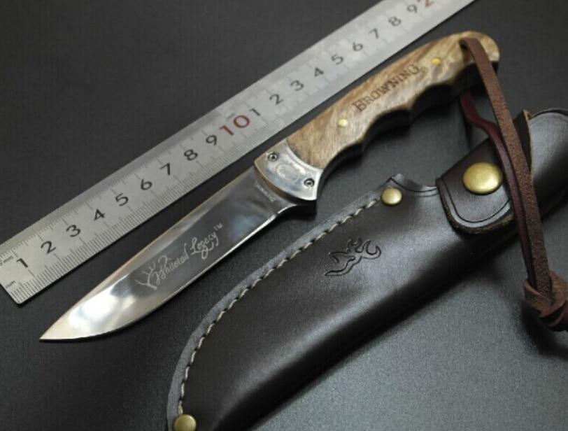 High end 7Cr17mov blade 58HRC Shadow Wood Fixed font b Hunting b font font b Knife