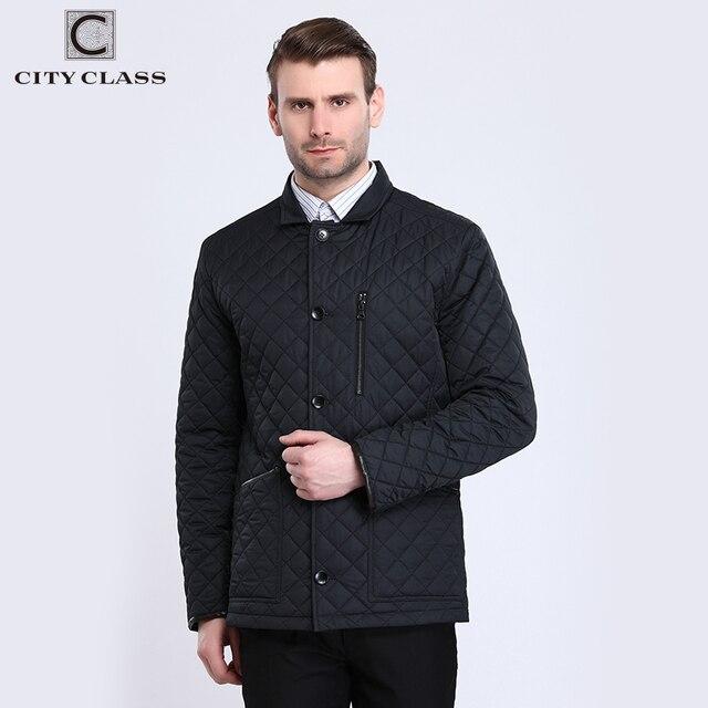 CITY CLASS 2017 Демисезонный Мужские Куртки Стеганный пиджак синтепон английский воротник Chaquetas Hombre Бизнес деловой Повседневное длинные пальто для мужчин 6xl 16147