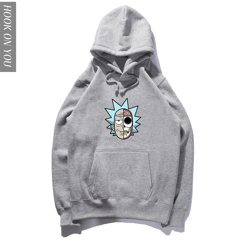 Rick And Morty Hoodie Men Classic Animation Hoody Men Cotton Fashion Casual Funny Science Fiction Cartoon Sweatshirts