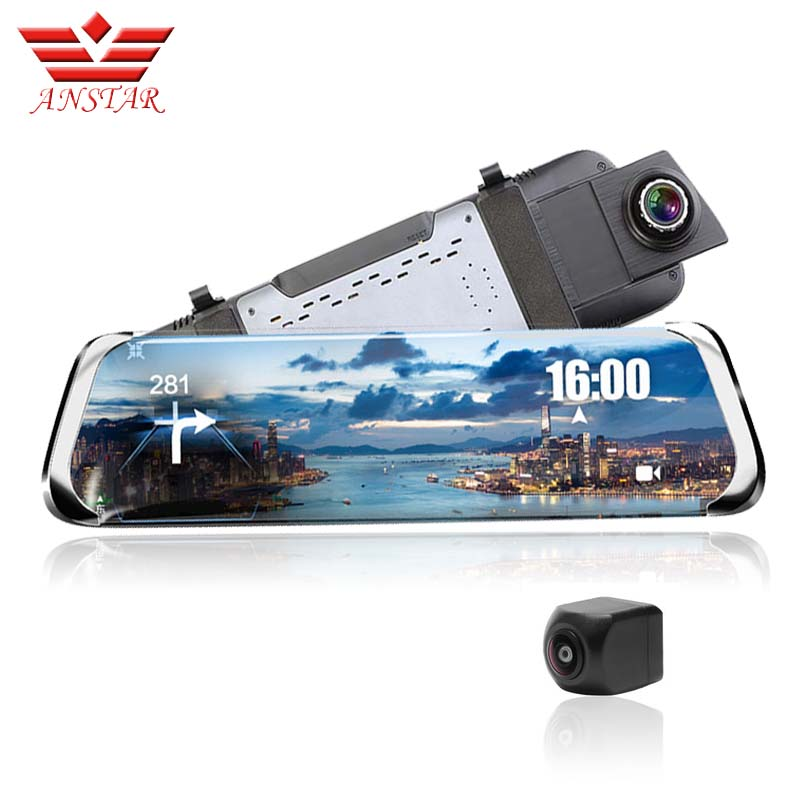 ANSTAR Voiture Dvr Dash Caméra 10 IPS Rétroviseur Caméra GPS ADAS WIFI bluetooth 3g/4g android 1080 p Streaming Media Dash Cam