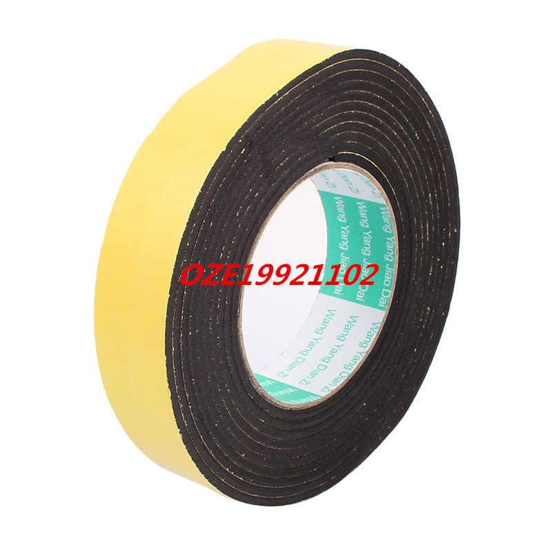Single Side Shockproof Foam Tape Adhesive Sponge Tape 30mm Wide x 4M Length 2pcs 2 5x 1cm single sided self adhesive shockproof sponge foam tape 2m length