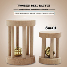 Wooden hamster parrot squirrel toy rattle bite grinding mouth baby bird enlightenment x small