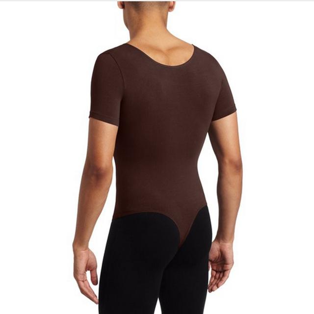 Ensnovo men Sleeveless Gymnastics Leotard Ballet Costumes Lycra Custom Skin Jumpsuit Dancewear Body Suit
