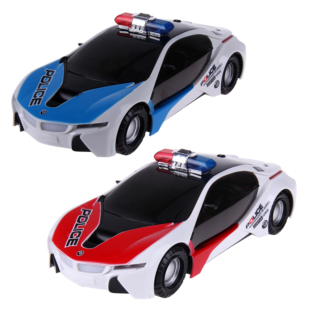 plastic electronic car diecast police car model with sound and light mini auto toys for boys birthday gift blue red