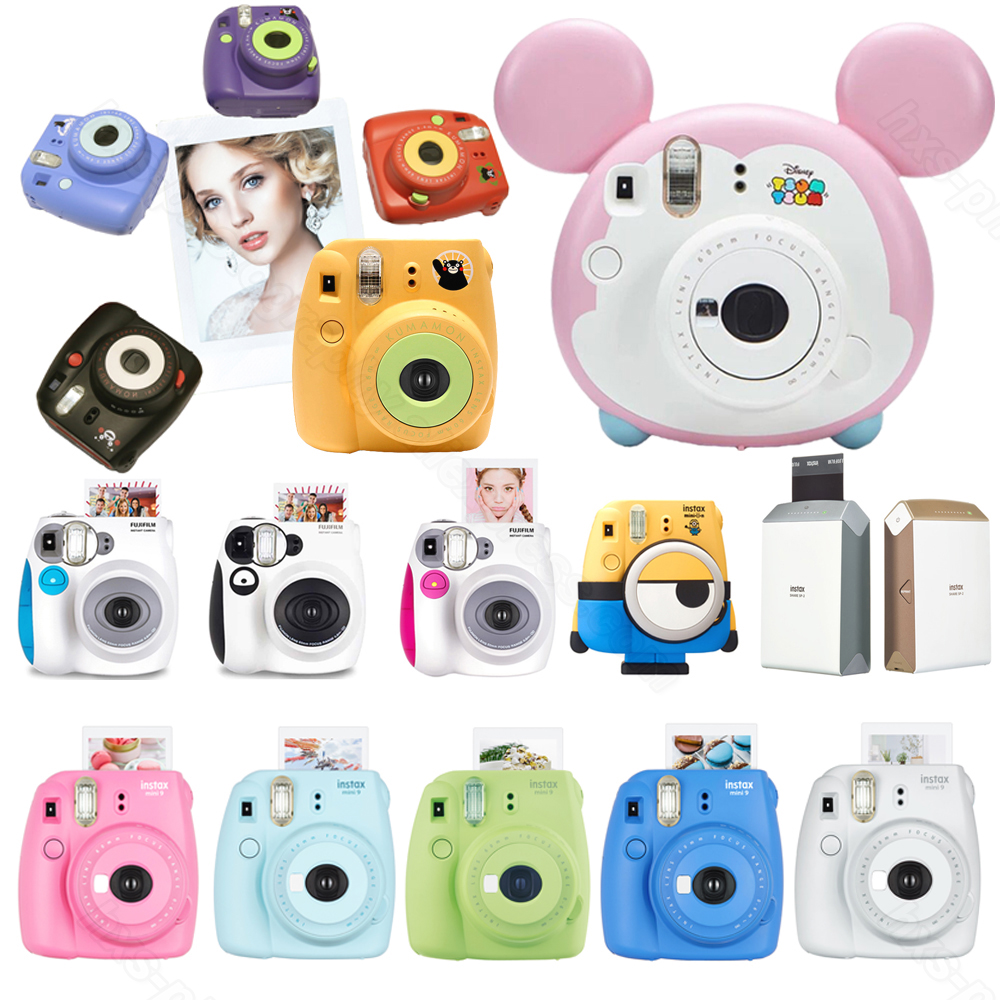 Fujifilm Instax Mini 9 Film Caméra, Fuji Mini 7 s, Tsum Tsum, Kumamon, minion Instax Instantanée Mini Caméras, Instax SP-2 Imprimante