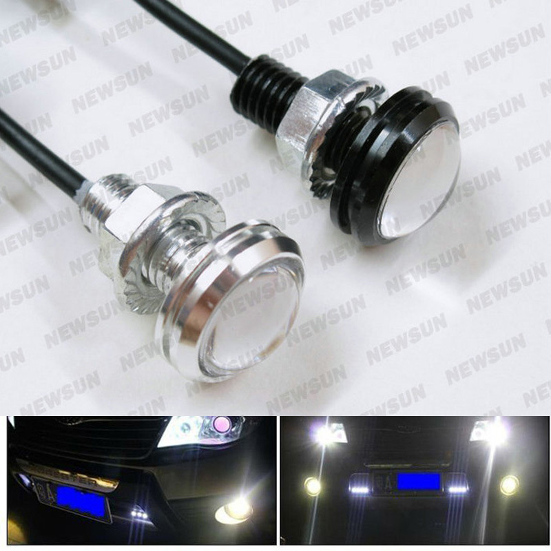Bolt on Screw 6W LED Eagle Eye Parking Daytime Driving Light Backup DRL Fog Lamp Car Lighting waterproof LED agle Eye lamp tonewan new arrive 2pcs waterproof car drl led eagle eye light 10w car fog daytime running light reverse backup parking lamp