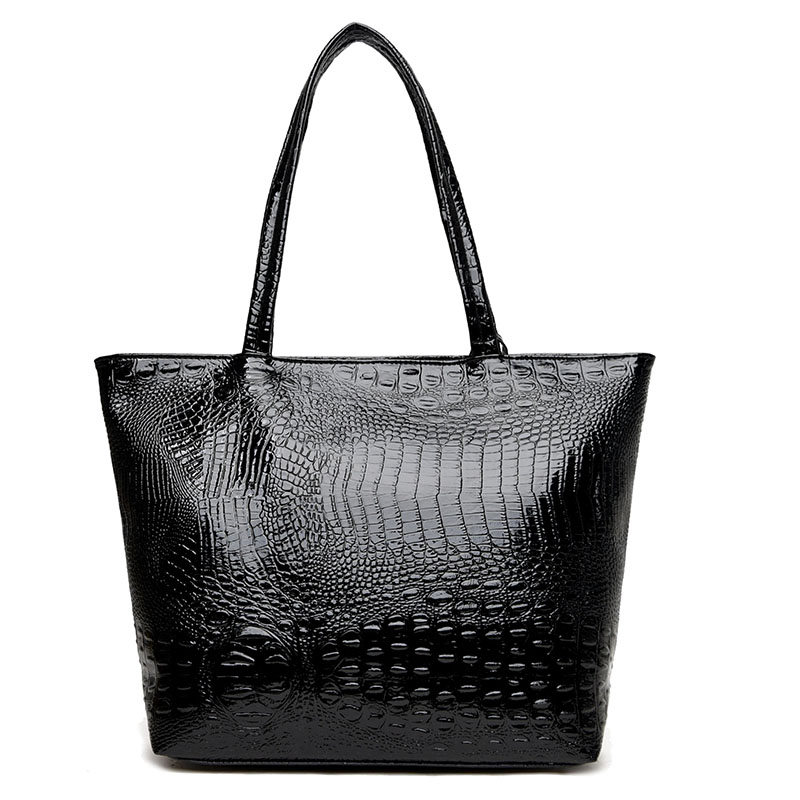 de ombro para mulheres de Women's Shoulder Bags Pattern : Women Alligator Crocodile Shoulder Bag Handbag
