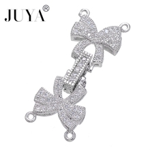 Diy Jewelry Accessories Bijoux Copper Zircon Bowknot Connect