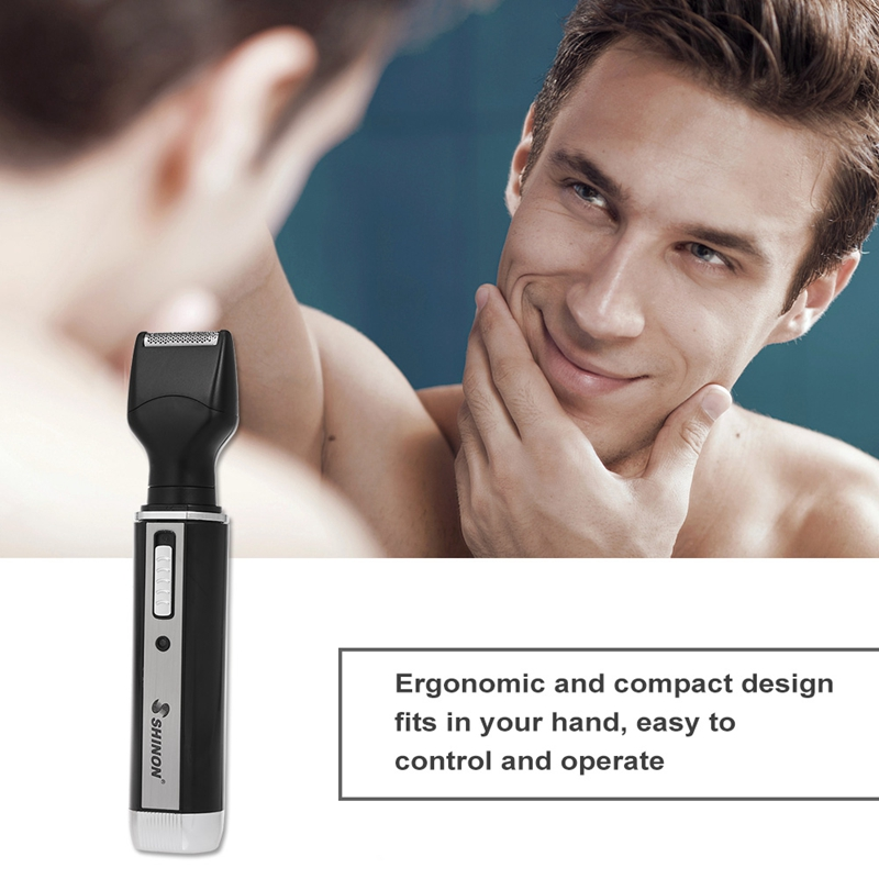 HOT Shinon 4 In 1 Nose Hair Beard Eyebrow Rechargeable Electric Trimmer Electric Nose Trimmer Shaver Hair Clipper Eu Plug in Electric Nose Ear Trimmers from Home Appliances