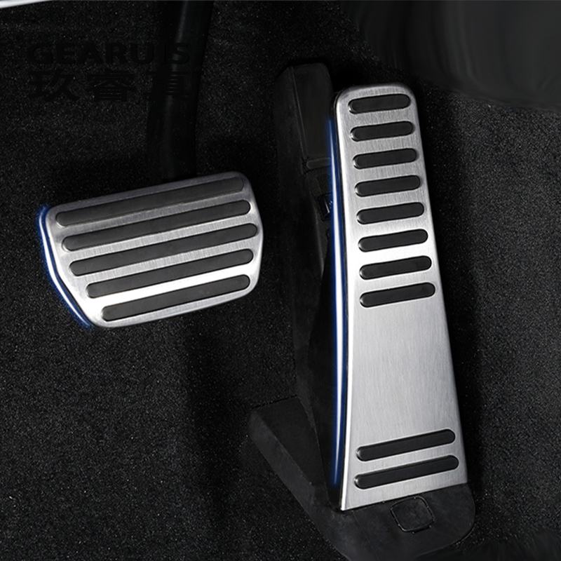 Car styling Accelerator Pedals Brake Pedal Clutch Pedals Covers Stickers decorative for Volvo XC90 S90 interior auto accessories