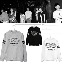 Kpop Infinite MAL Hoodies 2016 nueva REALIDAD infinita quinto mini álbum de manga larga camisetas k-pop H ropa mujeres hombres sudaderas escudo