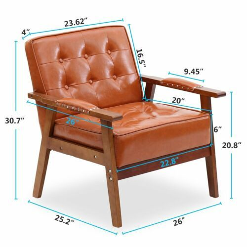 PU Leather Tufted Chair 5