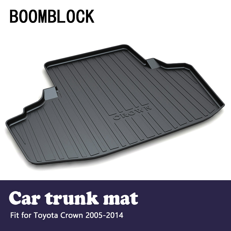 BOOMBLOCK For Toyota Crown 2005 2006 2007 2008 2009 2010 2011 2012 2013 2014 Car Trunk Mat Tray Floor Carpet Pad Accessories for hyundai tucson 2006 2007 2008 2009 2010 2011 2012 2013 2014 waterproof anti slip car trunk mat tray floor carpet pad