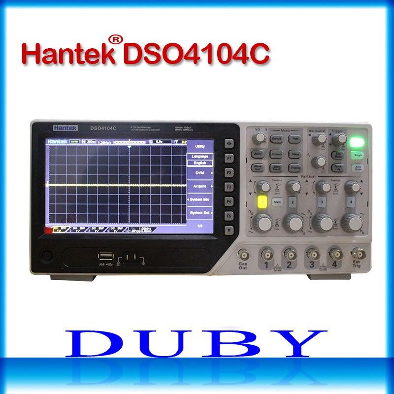 Hantek DSO4084C DSO4104C DSO4204C DSO4254C Osciloscópio Digital Portátil 80-250 MHz 4 Canais 1GSa/s Comprimento de Registro 64 K USB