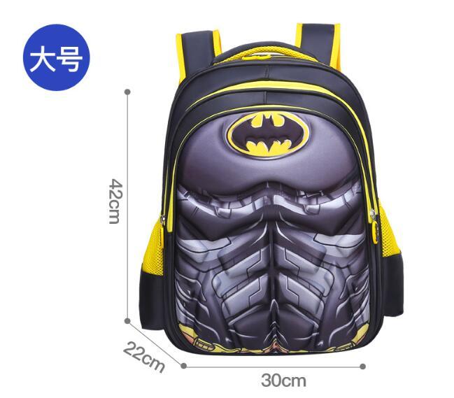 Superman Batman Captain America Boy Girl Children Kindergarten School Bag Teenager Schoolbags Kids Student Backpacks