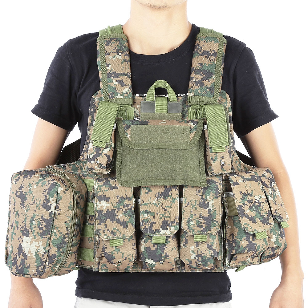 Outlife Phantom tactique militaire grève Combat Airsoft Molle balle assaut plaque transporteur gilet léger confortable
