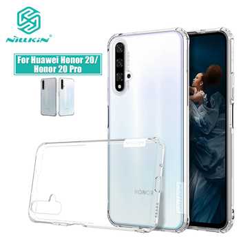 For Huawei Honor 20 Case Nillkin Nature Transparent Clear Soft silicon TPU Protector cover For Huawei Honor 20 Pro case 6.26''