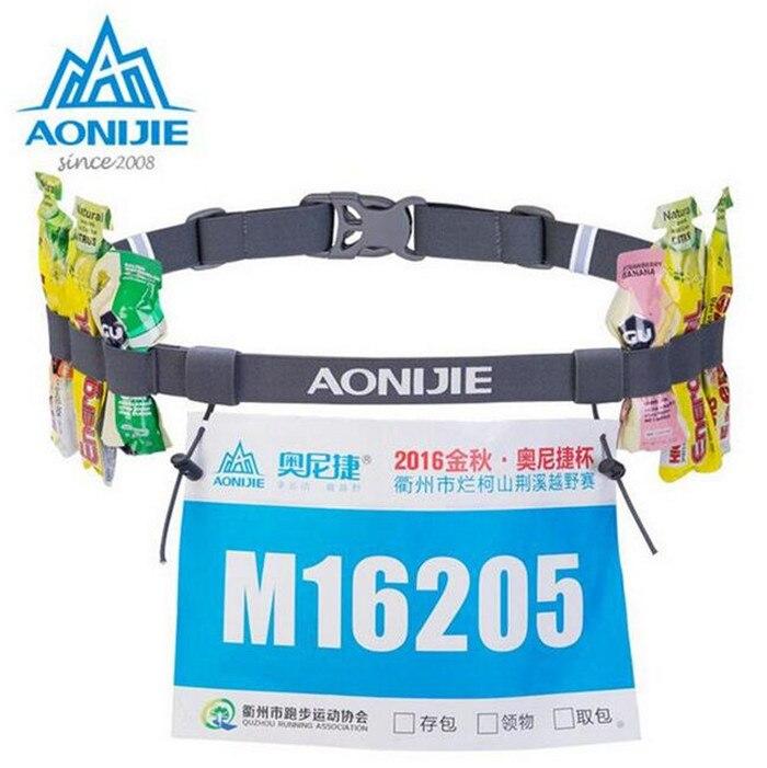Aonijie Unisex Triathlon Marathon Race Number Belt With Gel Holder Running Belt Cloth Belt Motor Running Outdoor sports
