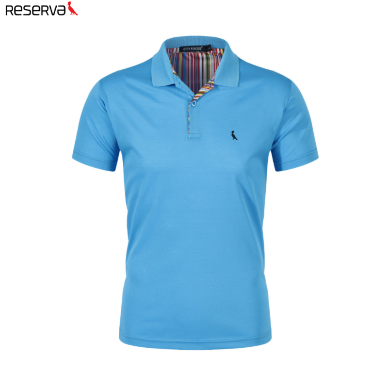 2019 Reserved aramy Men's   Polo   shirt camisa   polo   masculina camiseta Short sleeved cotton slim fit embroidery men clothing /CF101