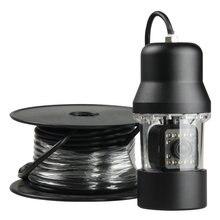 HD 600TVL светодиодный свет 360 Вращение рыболовная видеокамера 20 м кабель/Проводная камера для поиска рыбы