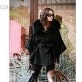 2014 новое поступление зима верхняя одежда повелительницы теплое с капюшоном меховые воротники пальто высокое качество женские куртки летучая мышь с пальто 25
