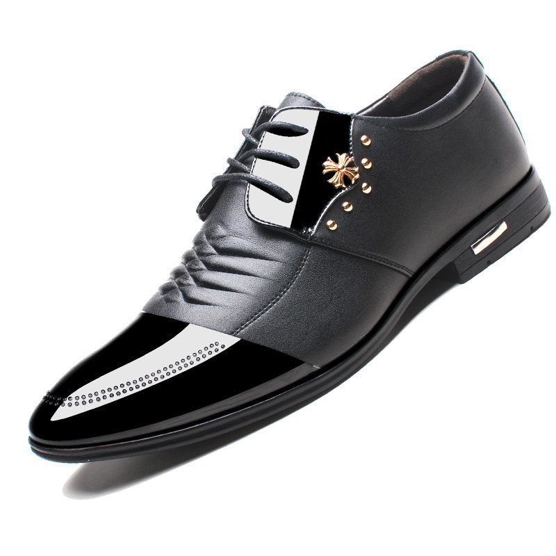 Designer Leather High Top Shoes Mens