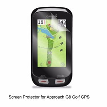 three* Clear LCD PET Movie Anti-Scratch Display Protector Cowl for Garmin Method G8 Golf GPS Equipment