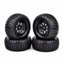 1/10 Short Course Truck Tires 12mm Hex for RC SLASH HPI Wheels Tires Accessories 4pcs set rc parts 12mm hex bead loc short course ruber tire rims for hpi hsp rc 1 10 traxxas slash