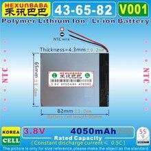 [V001] 3,8 в, 3,7 в 4050 мАч [436582] полимерный литий-ионный/литий-ионный аккумулятор для планшетных ПК, мобильных телефонов, банка питания, камеры